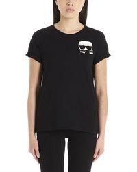 Karl Lagerfeld Ikonik Karl Crewneck T-shirt - Black