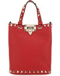 Valentino Garavani Rockstud Tote Bag - Red