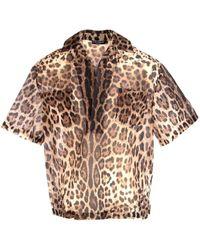 Dolce & Gabbana Leopard Print Short-sleeve Shirt - Brown