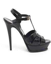 Saint Laurent - Classic Tribute 105 Leather Sandals - Lyst