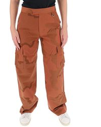 Marine Serre Camouflage Cargo Trousers - Brown