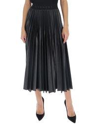 Givenchy Pleated Logo Band Skirt - Black
