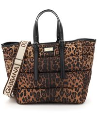 Dolce & Gabbana Sicily Quilted Tote Bag - Brown