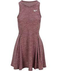 Nike Dri-fit Advantage Pleated Dress - Red