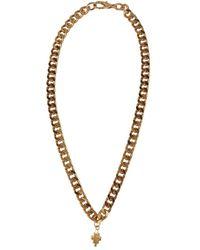 Marcelo Burlon Men's Cmob015s21met0017600 Gold Other Materials Necklace - Metallic