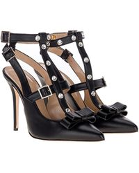Alessandra Rich Buckle-fastening Bow Court Shoes - Black