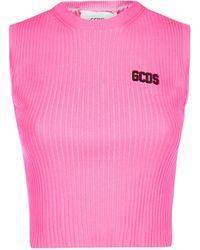Gcds Logo Cropped Top - Pink