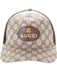 Gucci Tiger Gg Supreme Canvas Trucker Cap in Natural for Men - Lyst b2f62225b7c0