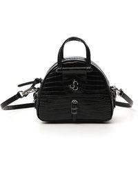 Jimmy Choo Varenne Bowling Mini Handbag - Black