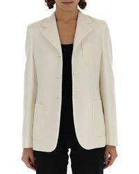 Bottega Veneta Button-up Blazer - White