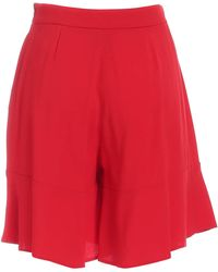 L'Autre Chose High-waisted Flared Shorts