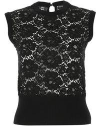 Dolce & Gabbana Lace Sleeveless Jumper - Black
