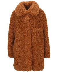 Stella McCartney Fur Free Fur Faux-shearling Josephine Coat - Brown
