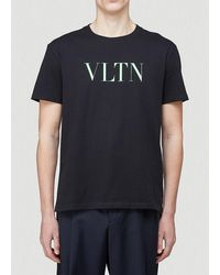 Valentino Vltn Printed T-shirt - Black