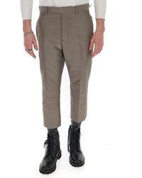 Rick Owens - Slim Fit Cropped Pants - Lyst