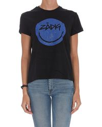Zadig & Voltaire Zoe Happy Strass T-shirt - Black