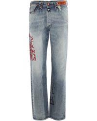 Heron Preston X Levi's 501 Jeans - Blue
