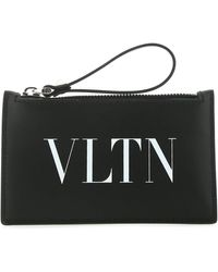 Valentino Leather Coin Purse - Black