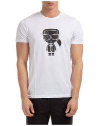 Karl Lagerfeld K/ikonik Print T-shirt - White
