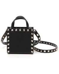 Valentino Garavani Garavani Rockstud Square Crossbody Bag - Black