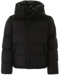 Burberry Lockwell Puffer Jacket With Removable Sleeves - Black