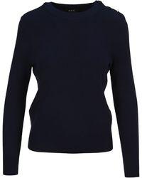 A.P.C. Caroline Knitted Jumper - Blue