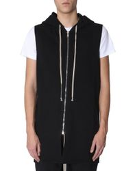 Rick Owens Drkshdw Hooded Sweatshirt With Zip - Black