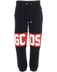 Gcds Men's Cc94m03100502 Black Cotton Sweatpants