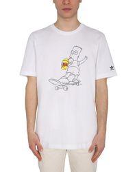adidas Originals The Simpsons Squishee Printed T-shirt - White