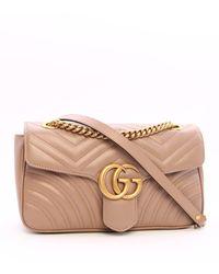 Gucci GG Marmont Matelassé Shoulder Bag - Pink