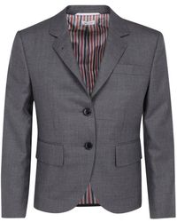 Thom Browne Single-breasted Tailored Blazer - Grey