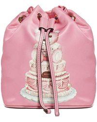 Moschino Graphic Print Bucket Bag - Pink