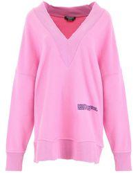 CALVIN KLEIN 205W39NYC V-neck Sweater - Pink