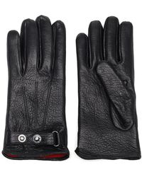 Alexander McQueen Cashmere-lined Leather Gloves - Black