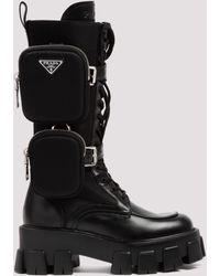 Prada - Monolith Combat Boots - Lyst