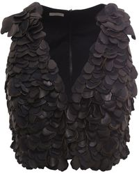Brunello Cucinelli Leather Top - Black