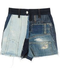 Dolce & Gabbana Denim Patchwork Shorts - Blue