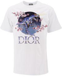 Dior Dior X Sorayama Dinosaur Printed T-shirt - White