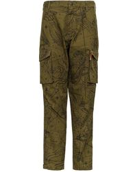 Givenchy Astral Print Cargo Trousers - Green