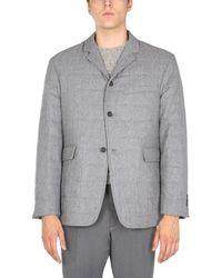 Thom Browne Wool Downfill Coat - Gray