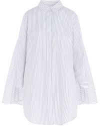 MM6 by Maison Martin Margiela Cape Back Striped Shirt - White