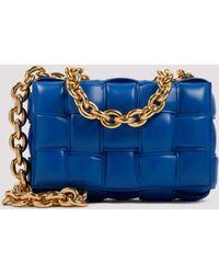 Bottega Veneta The Chain Cassette Leather Shoulder Bag - - Leather - Blue