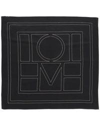 Totême Monogram Printed Scarf - Black