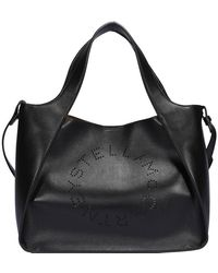 Stella McCartney Faux Leather Tote Bag - Black