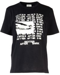 Saint Laurent Hotter After Dark Printed T-shirt - White