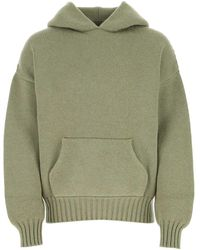 Fear Of God Ribbed Trim Knitted Hoodie - Green