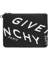 Givenchy Refracted Large Clutch Bag - Black