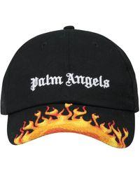 Palm Angels Flames Logo Cap - Black