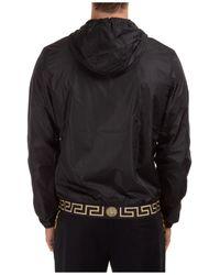 Versace Greca Front-zip Jacket - Black