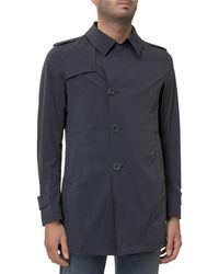 Herno Buttoned Trench Coat - Blue